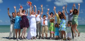 "Here is a Myrtlle Beach wedding couple & their family performing... ""The Myrtle Beach, JUMP!"""