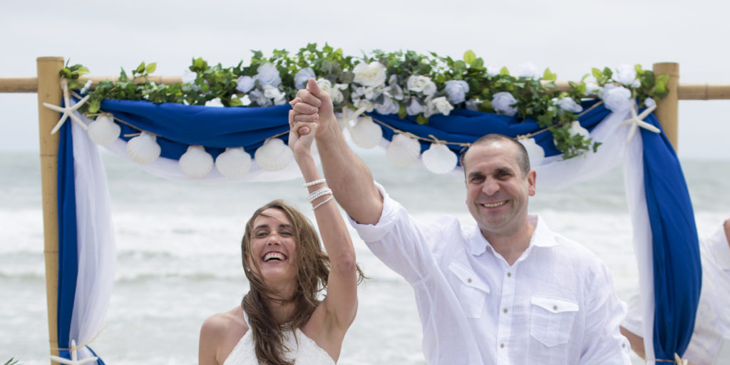 Myrtle Beach Weddings - Couple Walks Out Of The Isle - Just Married!
